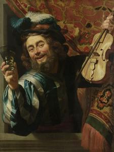 The Merry Fiddler, 1623 by Gerrit van Honthorst