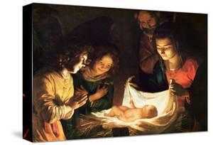 The Nativity by Gerrit van Honthorst