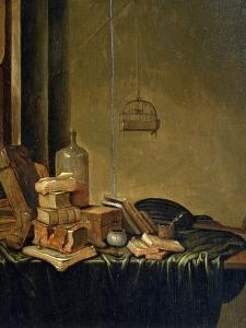 Still Life with Books, 17th Century by Gerrit van Vucht
