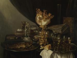 Still Life with a Nautilus Cup, C. 1645 by Gerrit Willemsz Heda