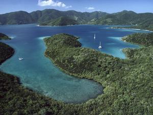 Aerial View of Hurricane Bay, Virgin Islands National Park, St John Island by Gerry Ellis