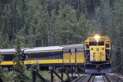 Alaska Railroad Train, Denali National Park, Alaska, USA
