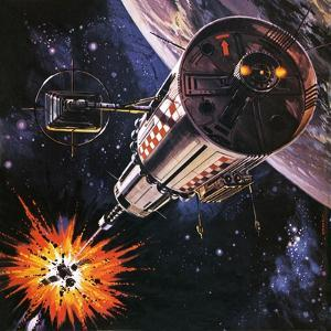 War in Outer Space, as Envisaged in 1977 by Gerry Wood