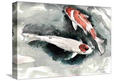 Gertal Pond Koi-Clark North-Stretched Canvas Print