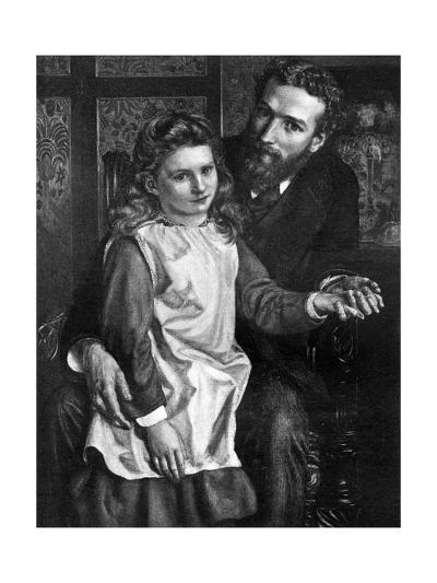 Gertrude Bell with Her Father, Sir Hugh Bell--Giclee Print