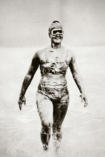Gertrude Ederle, American swimmer, 1926-Unknown-Photographic Print