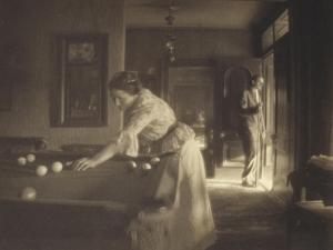 The Billiard Game, c.1907 by Gertrude Kasebier