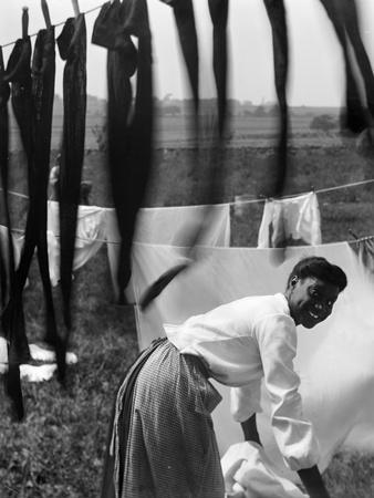 Woman Doing Laundry, C1902