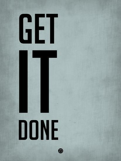 Get it Done Blue-NaxArt-Art Print