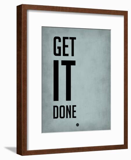 Get it Done Blue-NaxArt-Framed Art Print