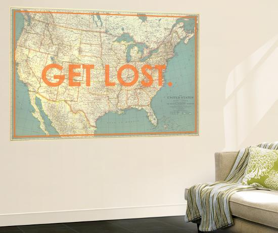 Get Lost - 1933 United States of America Map Wall Mural by National ...