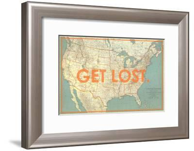 Get Lost - 1933 United States of America Map-National Geographic Maps-Framed Giclee Print