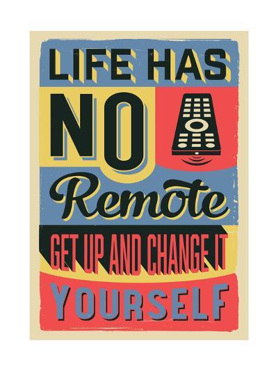 Get Up and Change Yourself-Vintage Vector Studio-Art Print