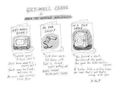 Get Well Cards For Appliances New Yorker Cartoon Premium Giclee