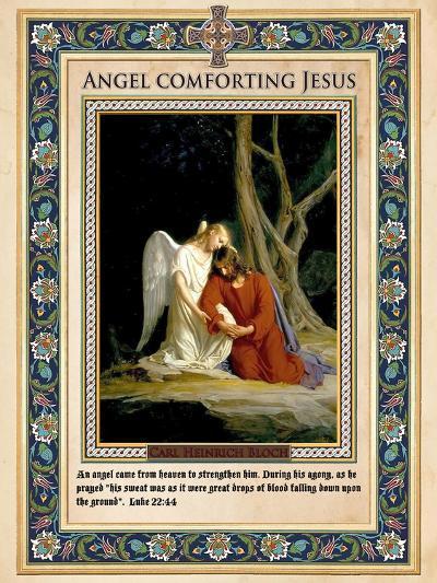 Gethsemane: Angel Comforting Jesus-Carl Bloch-Giclee Print