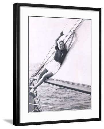 Getting Her Sea Legs--Framed Photo