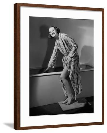 Getting in the Bath--Framed Photographic Print