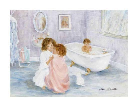 Getting Out of the Bath-H?l?ne L?veill?e-Art Print