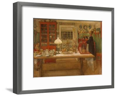 Getting Ready for a Game. 1901-Carlo Larsson-Framed Giclee Print