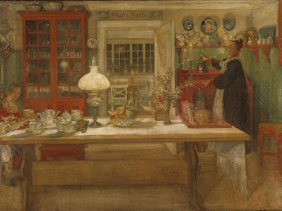 Getting Ready for a Game, 1901-Carl Larsson-Giclee Print