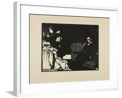 Getting Ready for a Visit, Plate Eight from Intimacies, 1898-Felix Edouard Vallotton-Framed Giclee Print