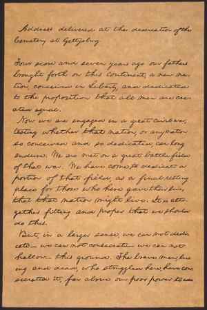 graphic about Gettysburg Address Printable titled Gettysburg Include Giclee Print by means of Abraham Lincoln