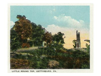 Gettysburg, Pennsylvania - View of Little Round Top, c.1928-Lantern Press-Art Print