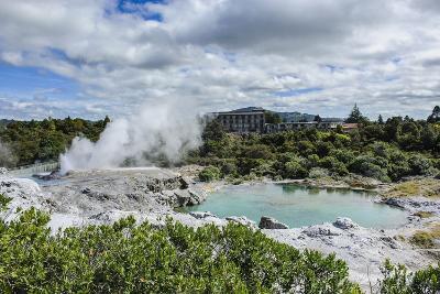 Geysirfield in the Te Puia Maori Cultural Center, Rotorura, North Island, New Zealand, Pacific-Michael Runkel-Photographic Print
