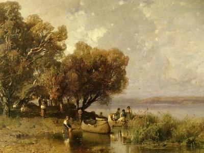Fishermen at Lake Balaton