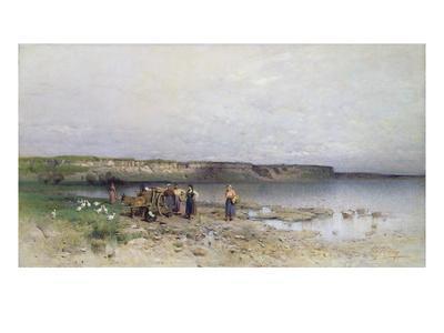 Lake Balaton with the Shore of Akarattya, 1885