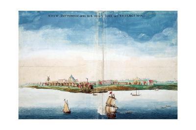 Gezicht Op Nieuw Amsterdam (A View of New Amsterdam, Aka New York City or Manhattan)-Johannes Vingboon-Giclee Print