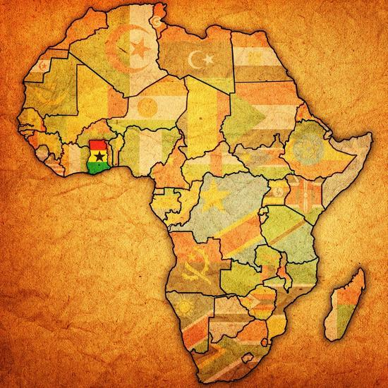 Ghana In Africa Map.Ghana On Actual Map Of Africa Art Print By Michal812 Art Com