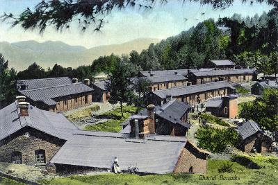 Gharial Barracks, India, Early 20th Century--Giclee Print