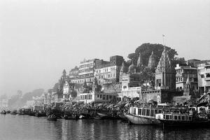 Ghats on River Ganges, Varanasi, Uttar Pradesh, India, 1982