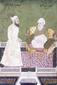 Ghaus Al-'Azam, Abdul Qadir Ghilani of Baghdad, C. 1800 (Gouache with Gold Paint on Paper)