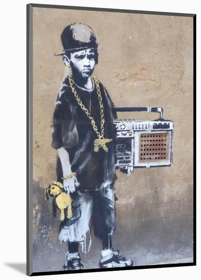 Ghetto Boy-Banksy-Mounted Giclee Print