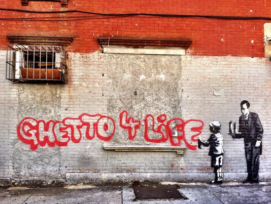 Ghetto for LIfe-Banksy-Giclee Print