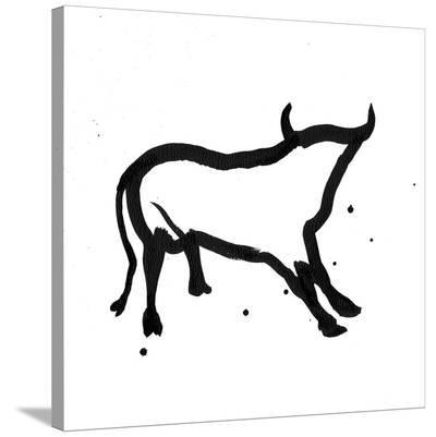 Ghost Bull-Rosa Mesa-Stretched Canvas Print