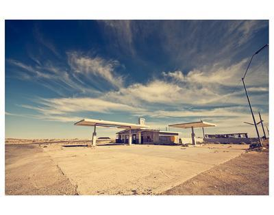 Ghost Gas Station On Route 66 Art Print By | Art.com