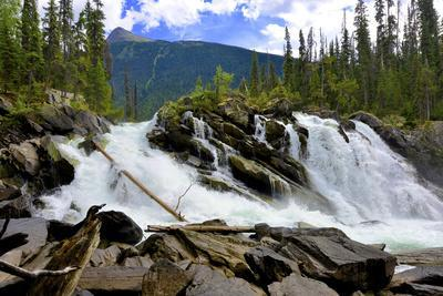 Ghost Lake Waterfall on the Matthew River in the Cariboo Mountains of B.C-Richard Wright-Photographic Print