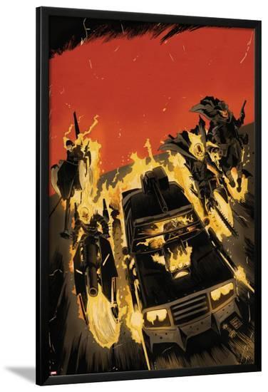 Ghost Racers #1 Cover Featuring Ghost Rider, Phantom Rider-Francesco Francavilla-Lamina Framed Poster