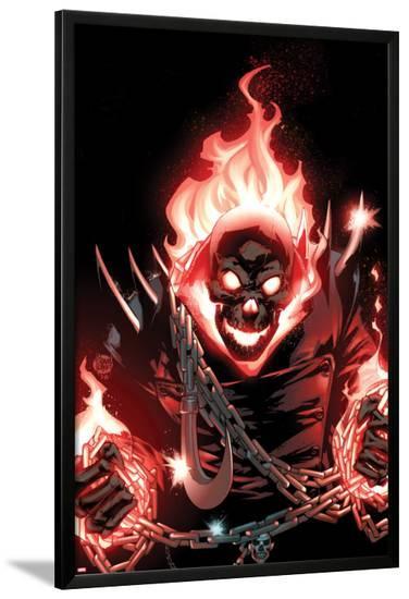 Ghost Rider No.1 Cover: Ghost Rider Flaming-Adam Kubert-Lamina Framed Poster