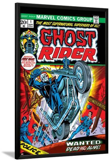 Ghost Rider No.1 Cover: Ghost Rider-Gil Kane-Lamina Framed Poster