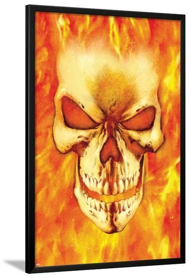 Ghost Rider No.15 Headshot: Ghost Rider-Mark Texeira-Lamina Framed Poster