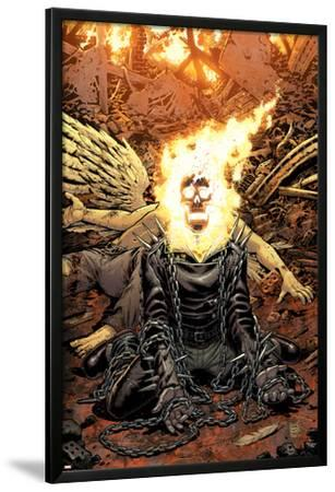 Ghost Rider No.18 Cover: Ghost Rider Lamina Framed Poster By Tony Moore |  Art.com