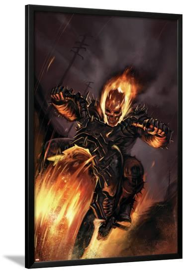 Ghost Rider No.20 Cover: Ghost Rider Fighting--Lamina Framed Poster