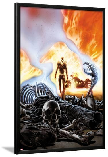 Ghost Rider No.6 Cover-Ron Garney-Lamina Framed Poster