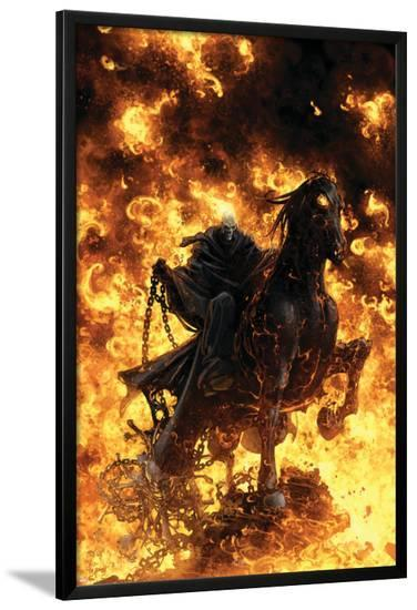 Ghost Rider: Trail Of Tears No.6 Cover: Ghost Rider--Lamina Framed Poster