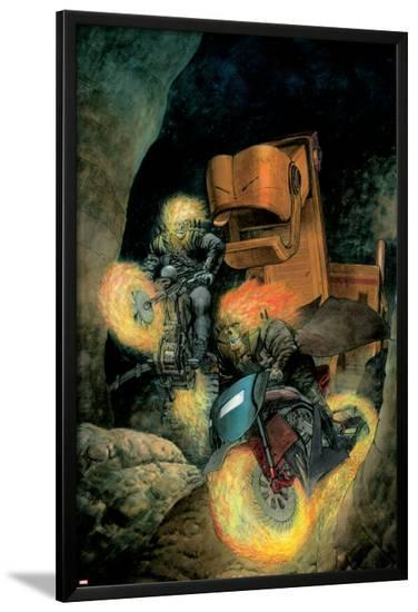 Ghost Riders: Heavens On Fire No.3 Cover: Ghost Rider-Das Pastoras-Lamina Framed Poster