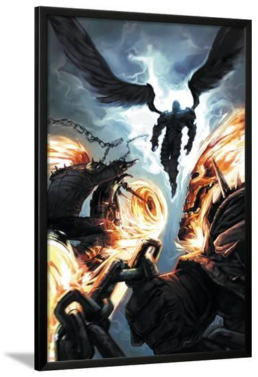 Ghost Riders: Heavens on Fire No.6 Cover: Ghost Rider and Zadkiel--Lamina Framed Poster